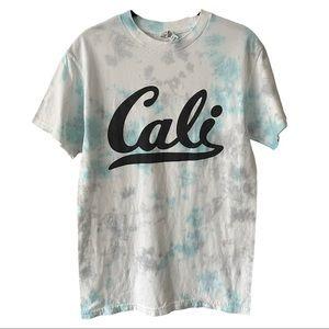 Tie Dye Cali Graphic Short Sleeve Shirt Small